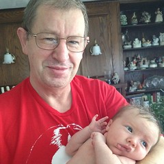 Day 39: Maya and dziadek (grandpa)