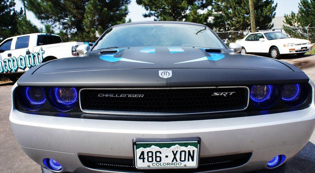 Dodge Challenger Custom Matte Black With Gloss Logo Ov