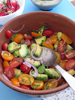 tomato avocado salad | by David Lebovitz