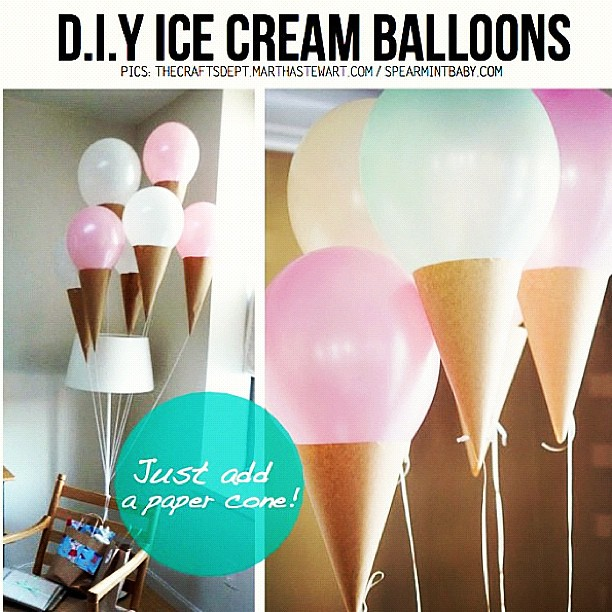 This is so cute diy icecream cone party balloons flickr