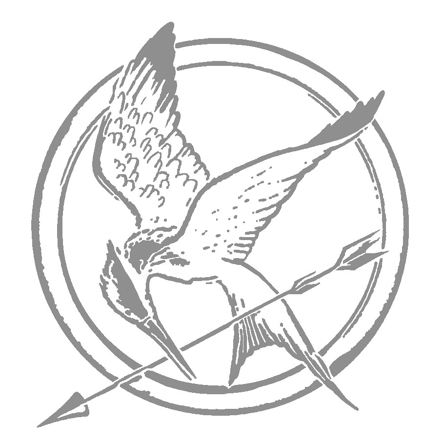 The Hunger Games Coloring Pages For Kids | Mackenzie's ... |Hunger Games Mockingjay Pin Outline