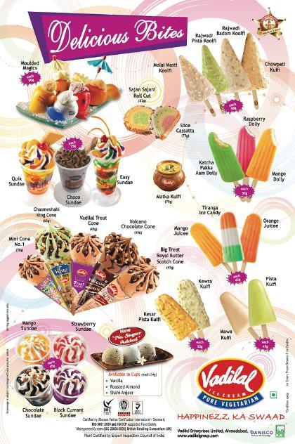 Kulfi | Artisan Products | Mava Kulfi | Pista Kulfi ... Vadilal Ice Cream Price List