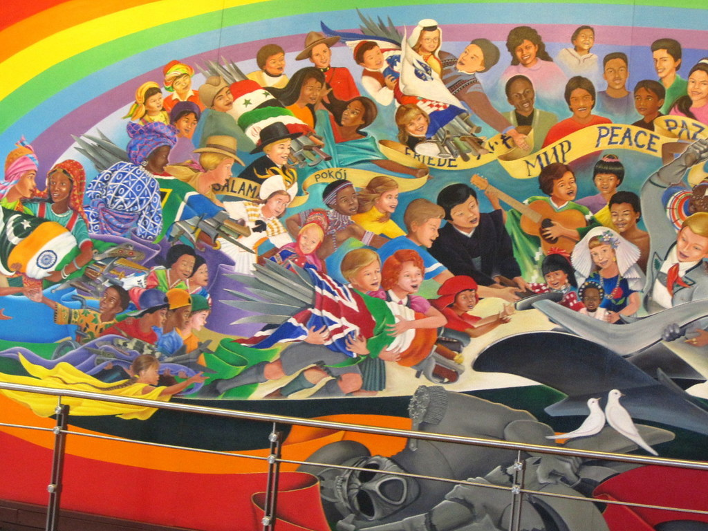 Denver airport murals 4 inset eric golub flickr for Mural in denver airport