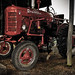 Mr. Black's red tractor