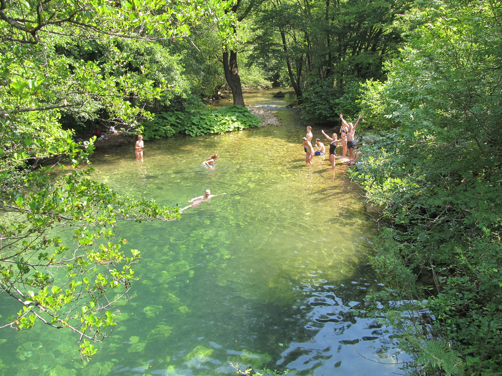 Bathers at a natural pool | by Undiscovered Montenegro