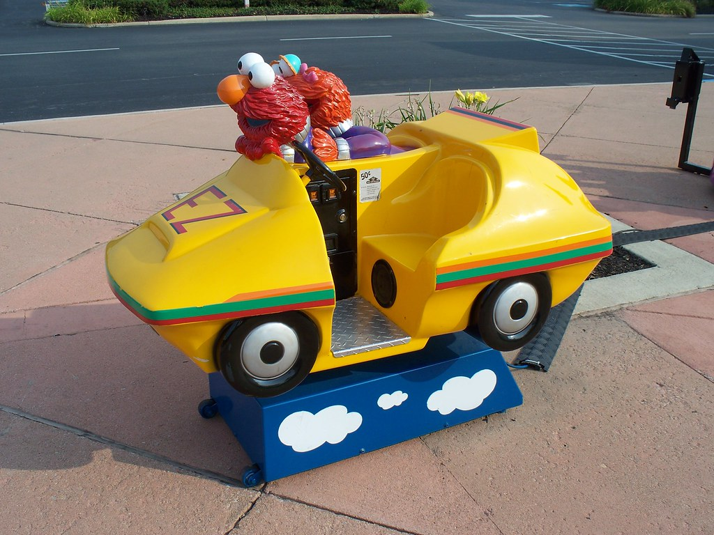 Mini rides for the kids | Coin operated Sesame Street Big ...