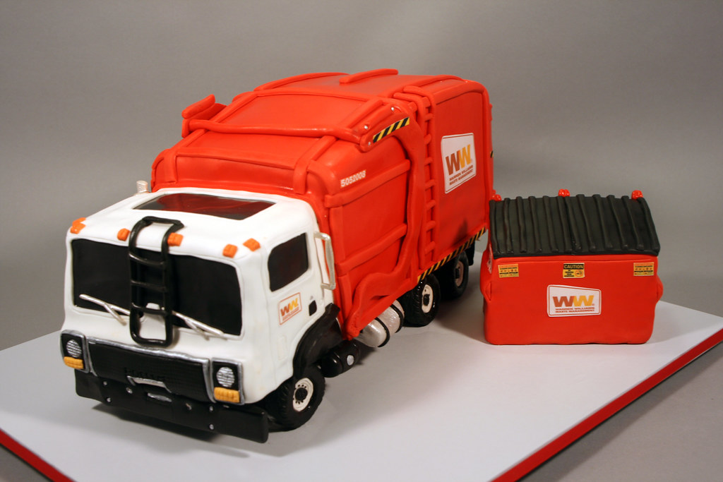 Garbage Truck Birthday Cake Decorated In Rkt Fondant