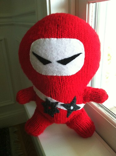 Knitted ninja finished. | by sewgentle