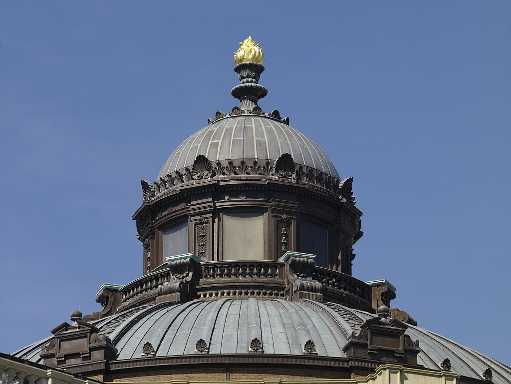 Exterior view torch of learning cupola and dome libra for How to build cupola