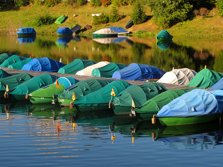 Fishing Boats resting at Schluchsee | by Batikart