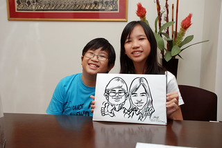 Caricature live sketching for Marks & Clerk Singapore LLP Christmas Party - 10 | by jit@portraitworkshop.com