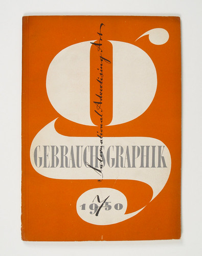 Cover of Gebrauchsgraphik by Heinz Hadem, 1950 | by Herb Lubalin Study Center