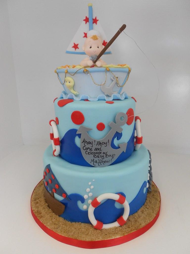 nautical baby shower cake 1242