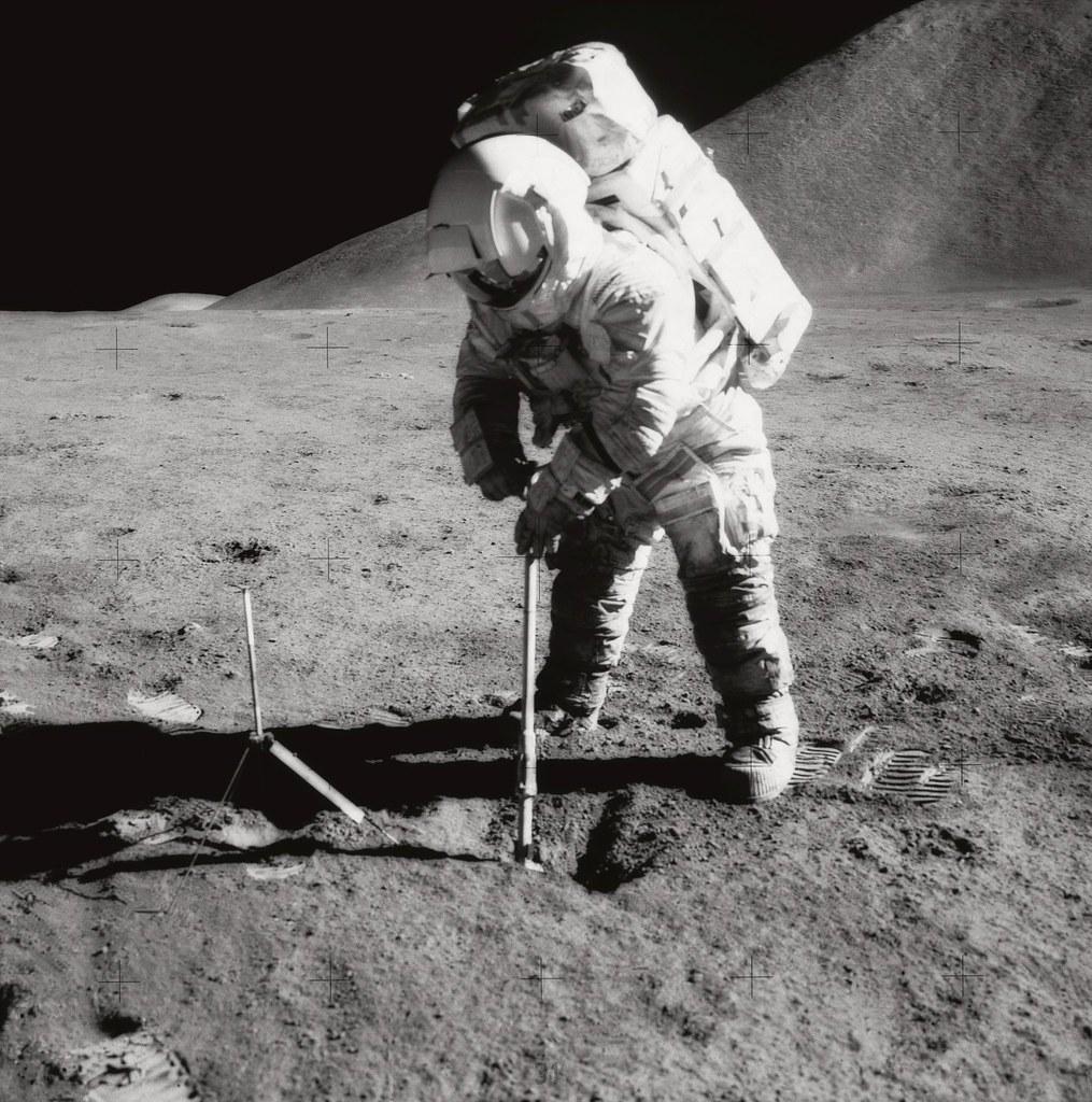Apollo 15: Irwin Scoops up Soil   Description: Astronaut ...