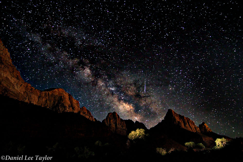 Milky Way Over Zion Np Explored July 26 2012 This Was