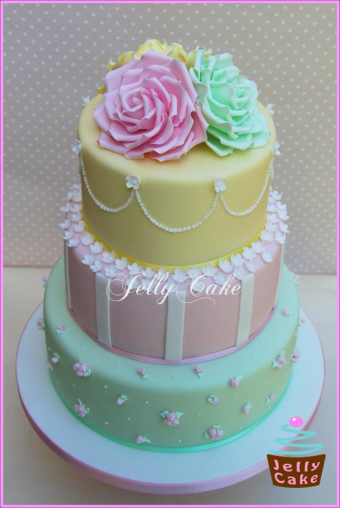 Pastel Rose Wedding Cake A Very Pretty Pastel Wedding Cake Flickr