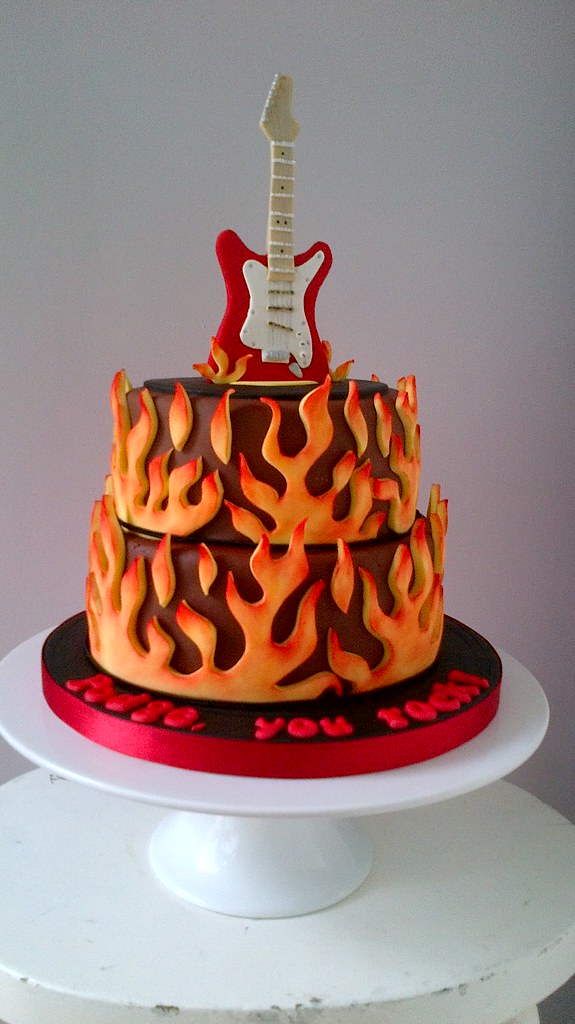 Electric Guitar Cake Birthday Cake For My Brother In Law