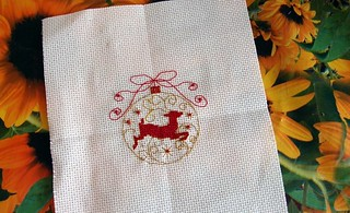 Christmas embroidery - Deer | by Domoshar