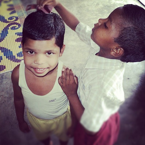 Our children at the orphanage in India love helping each other. | by plightofthepersecuted
