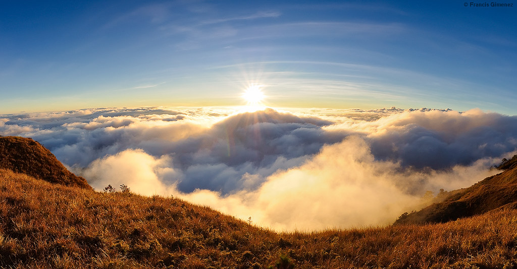 Mt Pulag Sunset Panoramic Sunset Taken From Mr Pulag