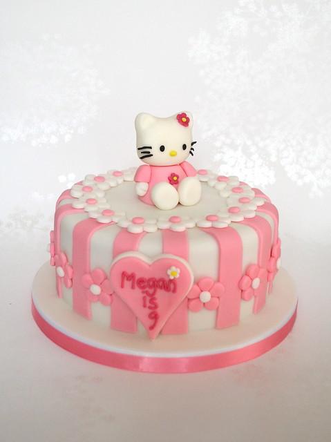 Cake Hello Kitty Birthday : Pink Stripey Hello Kitty Birthday Cake Flickr - Photo ...