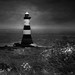 Penmon Lighthouse; B&W