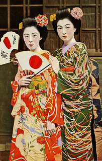Maiko Fumi and Friend 1940s | by Blue Ruin1