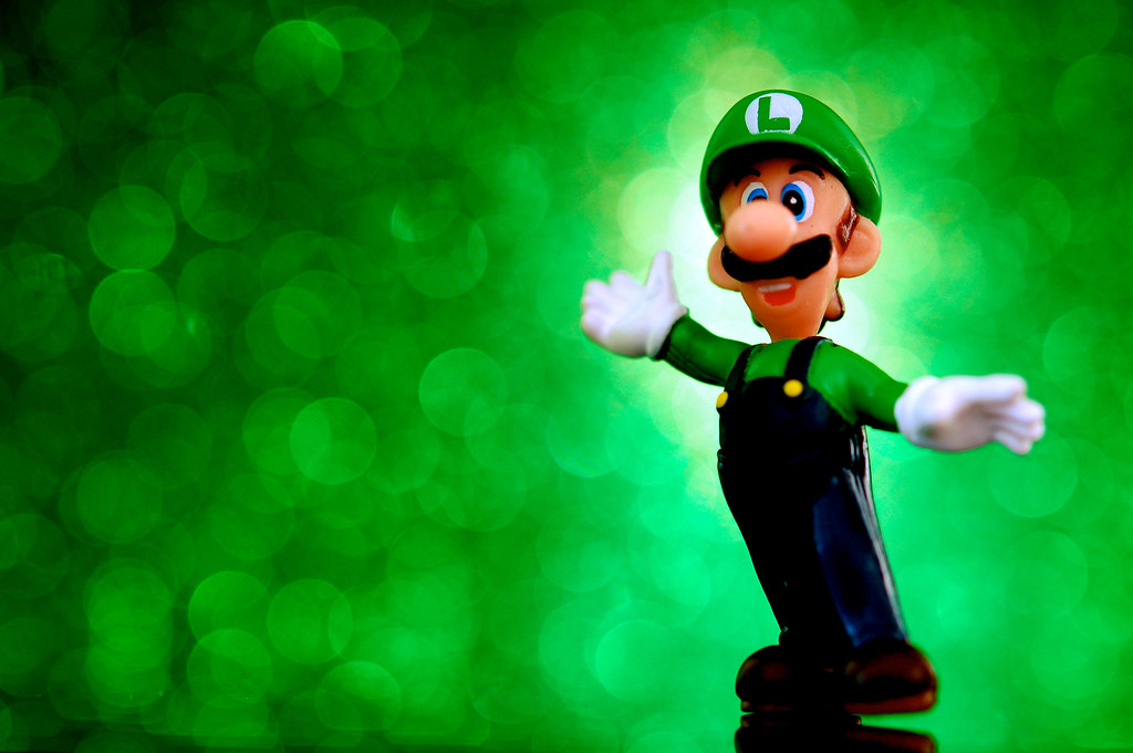 Free Nintendo Games >> Super Blast Luigi | A two inch Luigi figure from Nintendo's … | Flickr