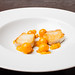 "Halibut with cape gooseberry, chipotle, and masa ""wire"" 02"