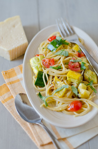 Summer Spaghetti | by Seeded at the Table