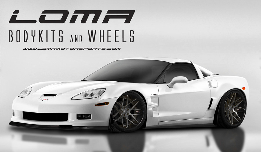 White Chevrolet Corvette C6 Z06 Gt2 Widebody By Loma 174 Moto