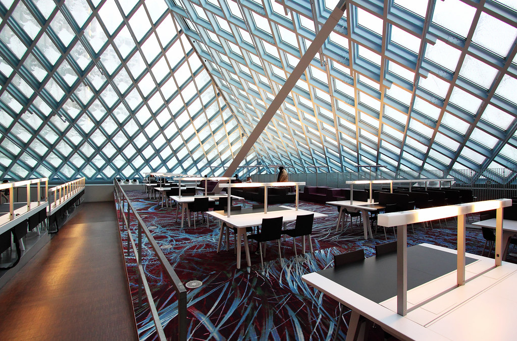 seattle central library-reading area   Lue Huang   Flickr