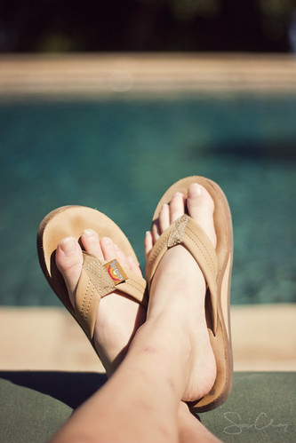 Flip Flops and Sunshine | by Sarah Ching