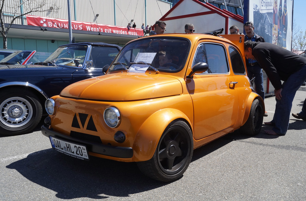 fiat 500 f 1970 tuning 85 ps in electric orange pearl 1