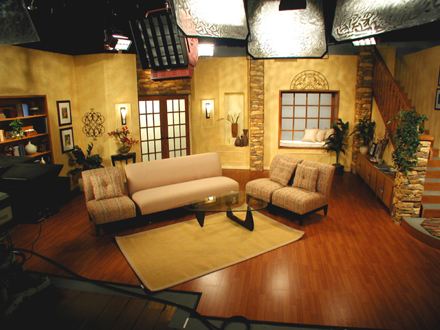 how to stage a small living room living room set permanent infomercial tv set upstage 27605