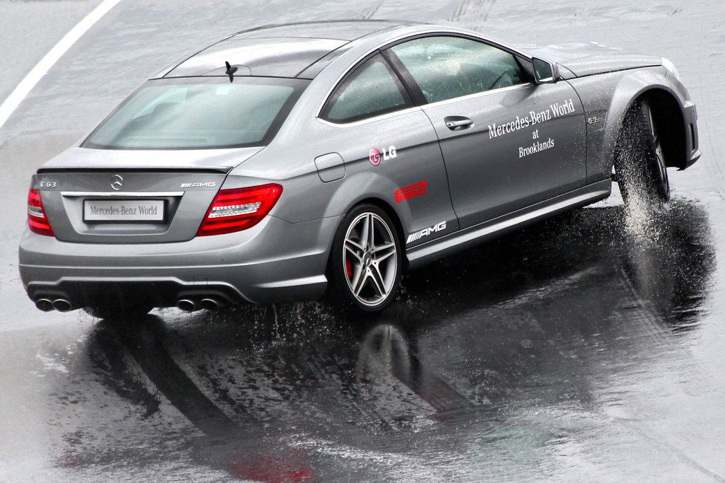 Mercedes benz c63 amg drifting 1 on skid pan mercedes for Mercedes benz jobs alabama