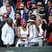 Serena Williams celebrates with her family