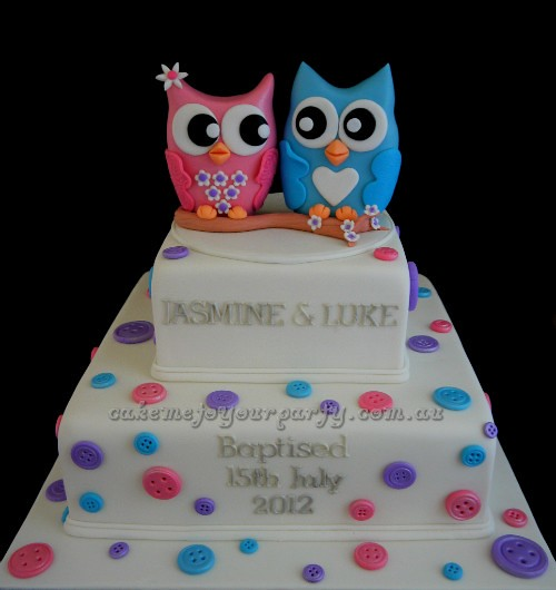 Twin Owl Cake Www Cakemetoyourparty Com Au What A