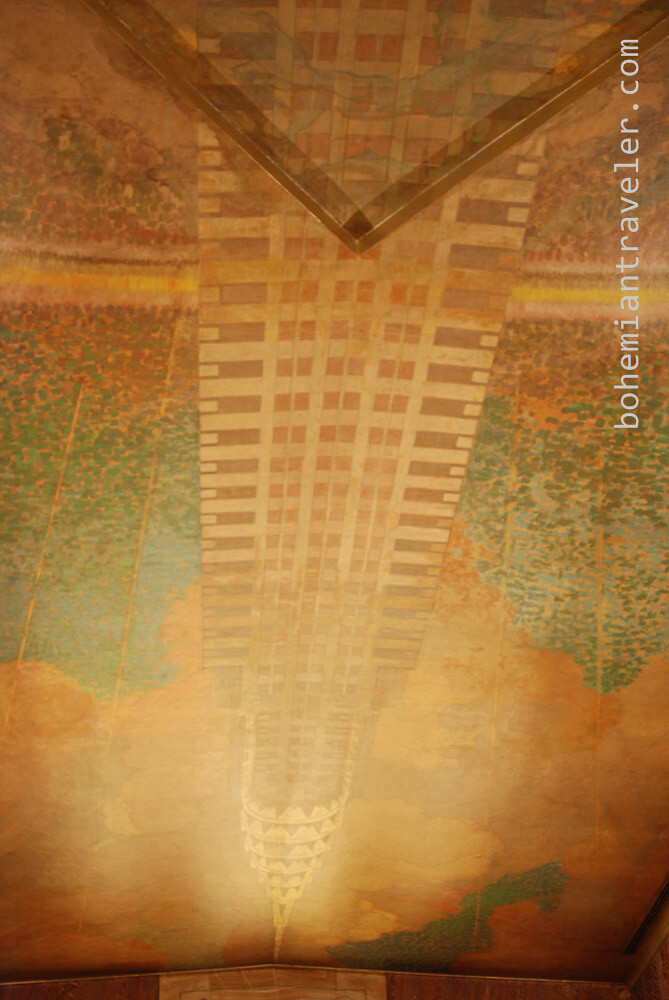 The chrysler building lobby mural stephen bugno flickr for Chrysler building lobby mural