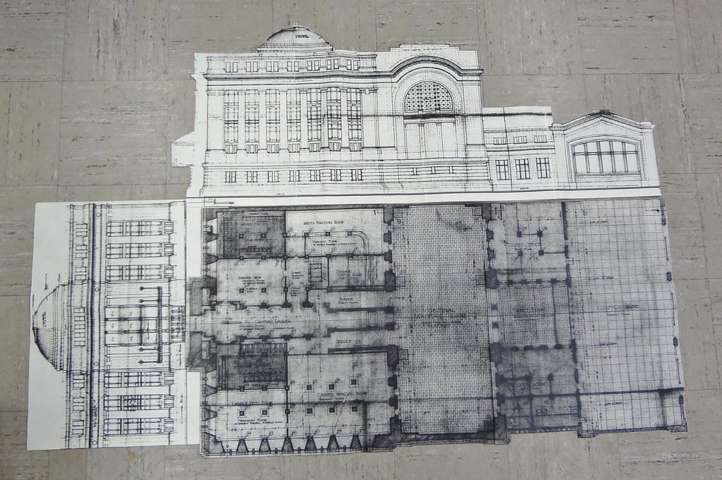 Ottawa Union Station Full Size Ho Scale Drawing Floor