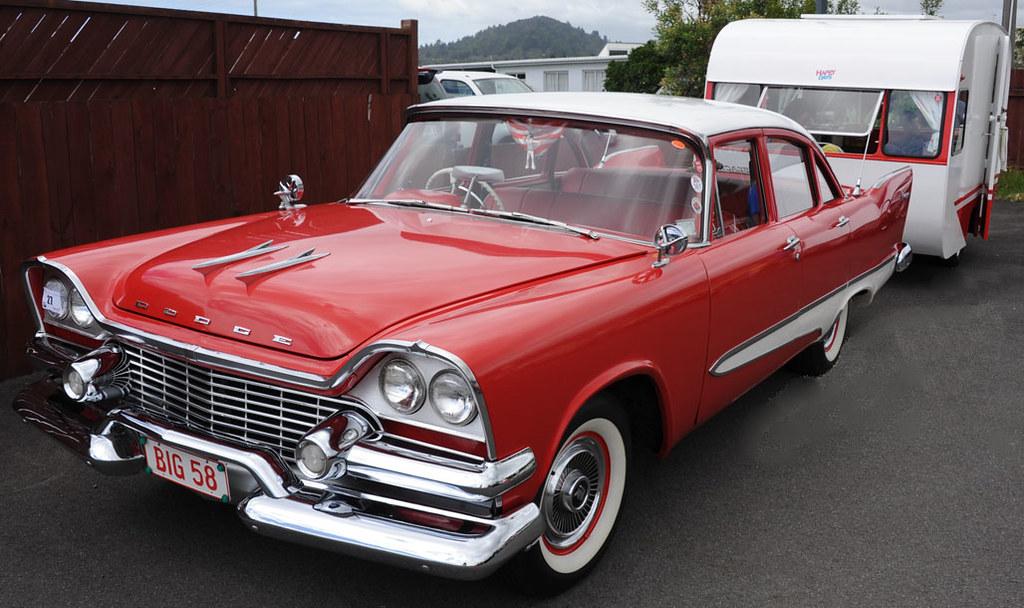 1958 Dodge Kingsway And Caravan Whangamata New Year S