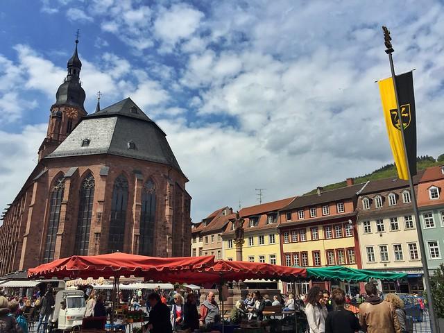 Marktplatz en Heidelberg