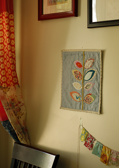 Sprout mini quilt  {project}