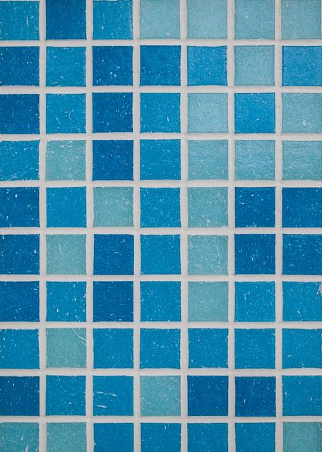 Cobalt Blue Tile Kitchen Countertop