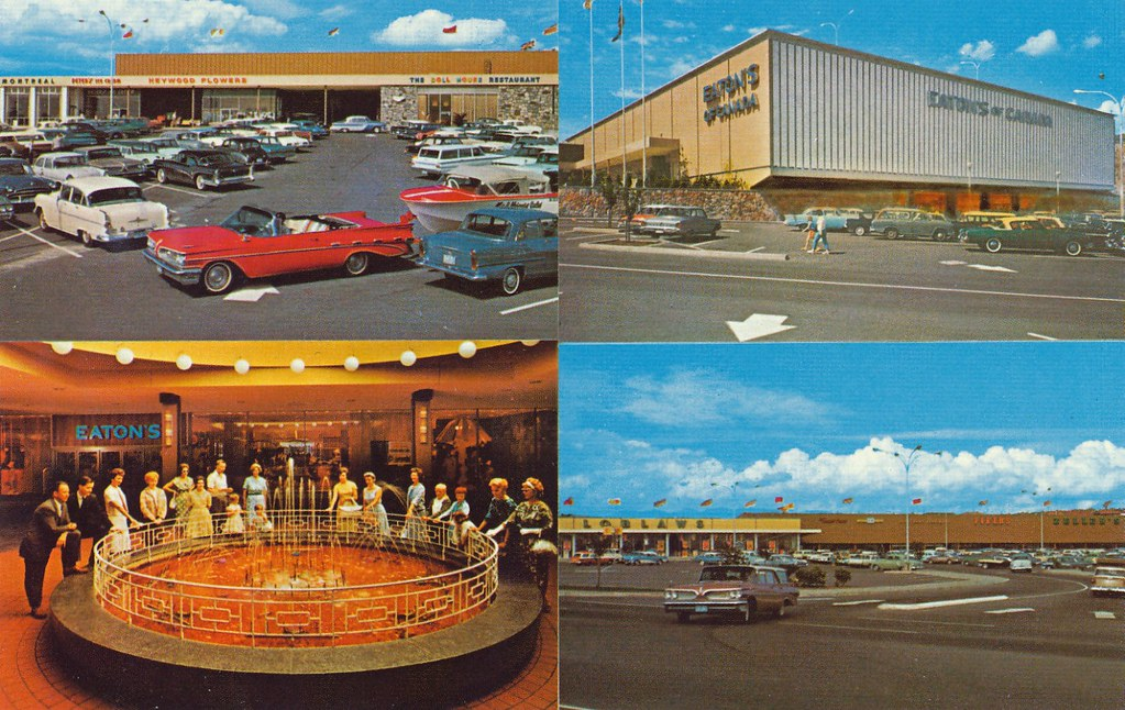 Postcard Brentwood Shopping Centre Burnaby Bc 1963