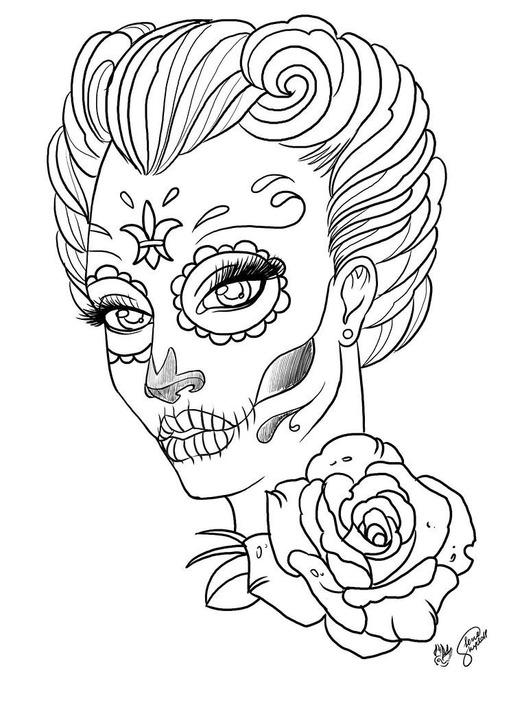sugar skull lady lenaskydoll