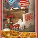 Domino Pizza Kid with toys