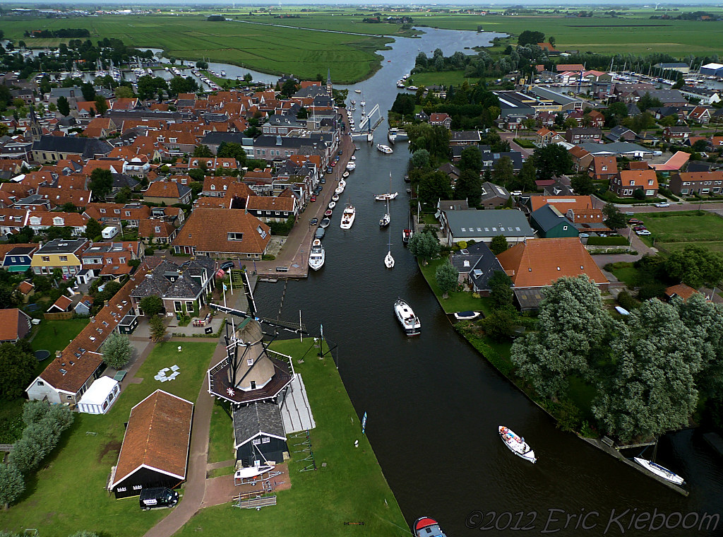 Woudsend Friesland the Netherlands Woudsend local