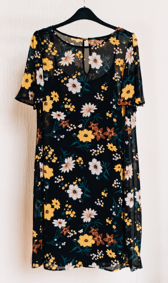 sheer floral dress from new look