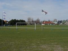 Fußballplatz Ragow - Blick Richtung KITA